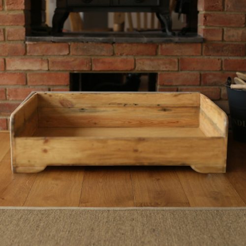 Popular Handmade Wooden Dog Bed - Rustic | Hunt & Wilson JO09