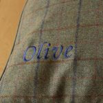 Upper and Lower Case 'Olive' script style font