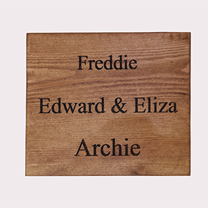 Engraved Names