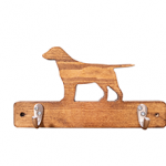 Wooden dog lead hook