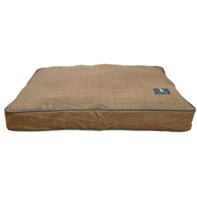 camel tweed microfibre dog bed