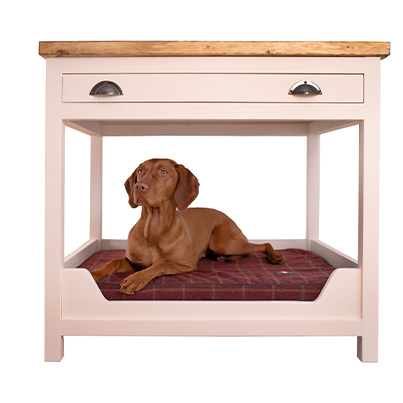 kitchen unit with dog bed