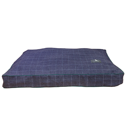 marine tweed microfibre dog bed